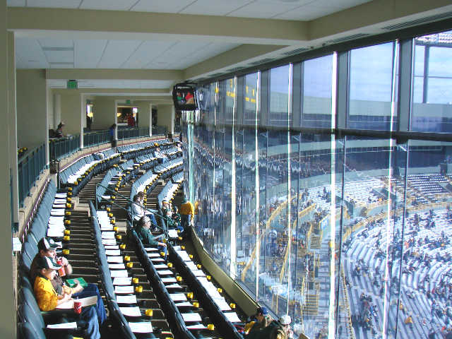 Green Bay Packers Indoor Club Seats