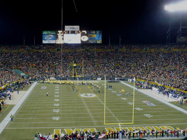 Green Bay Packers Lower End Zone