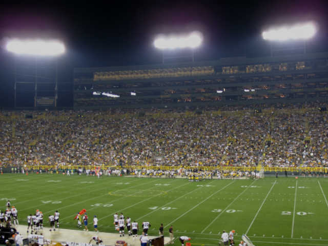 Green Bay Packers Lower Sideline