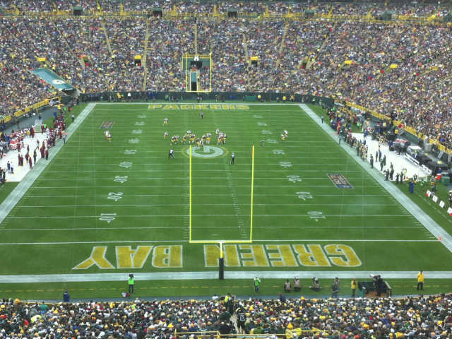 Green Bay Packers Middle South End Zone