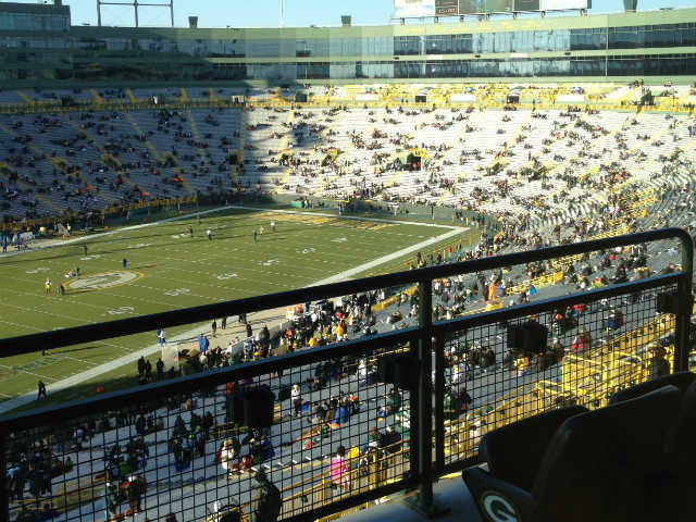 Green Bay Packers Outdoor Club Seats